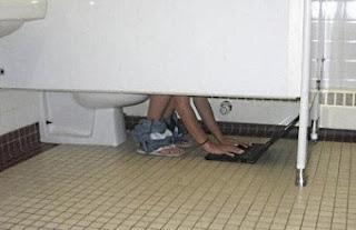 smešna slika: s laptopom u toaletu