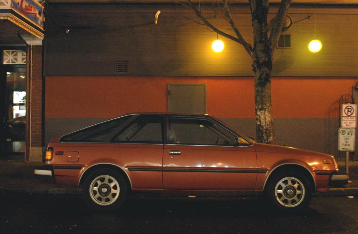 OLD PARKED CARS 1982 DatsunNissan Sentra Hatchback