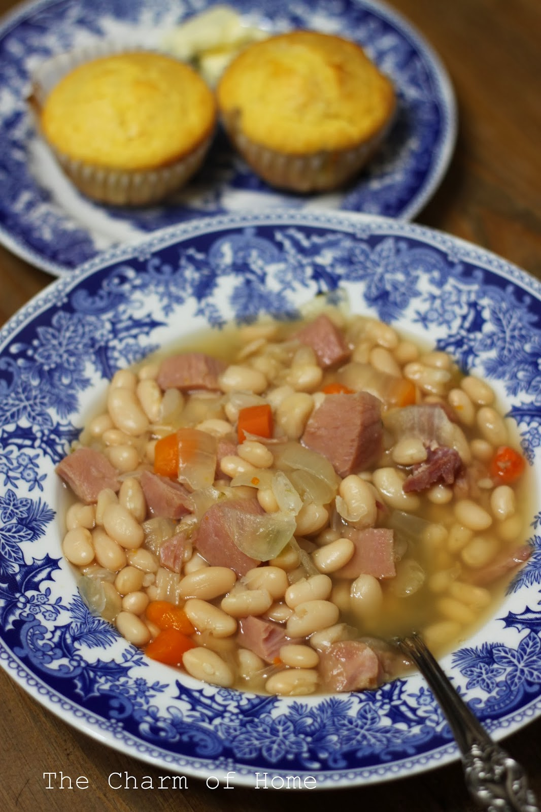 Slow Cooker Ham and Beans, The Charm of Home