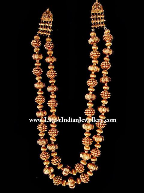 Gold Nakshi Beads Mala