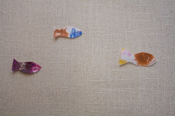 Glittery melted crayon fish life with moore babies for Fish therapy near me