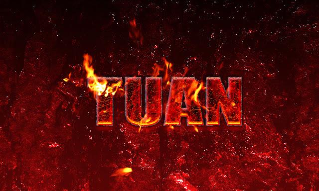PSD Hiệu ứng chữ lửa - Hot Lava
