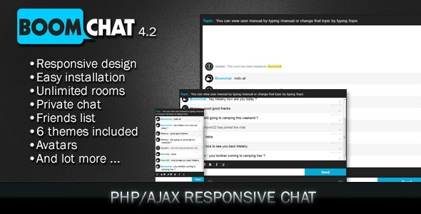 Boomchat v7.1 – Responsive PHP/AJAX Chat + Addons and Theme