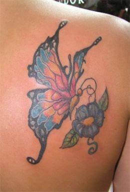 Desenhos de Tatuagens Femininas de Borboletas