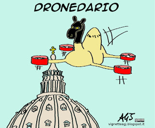 droni, giubileo, terrorismo, isis, satira vignetta