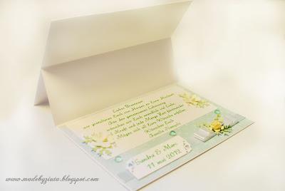 kartki okolicznościowe kartka weselna ślub kartka typu składaczek barbara wójcik