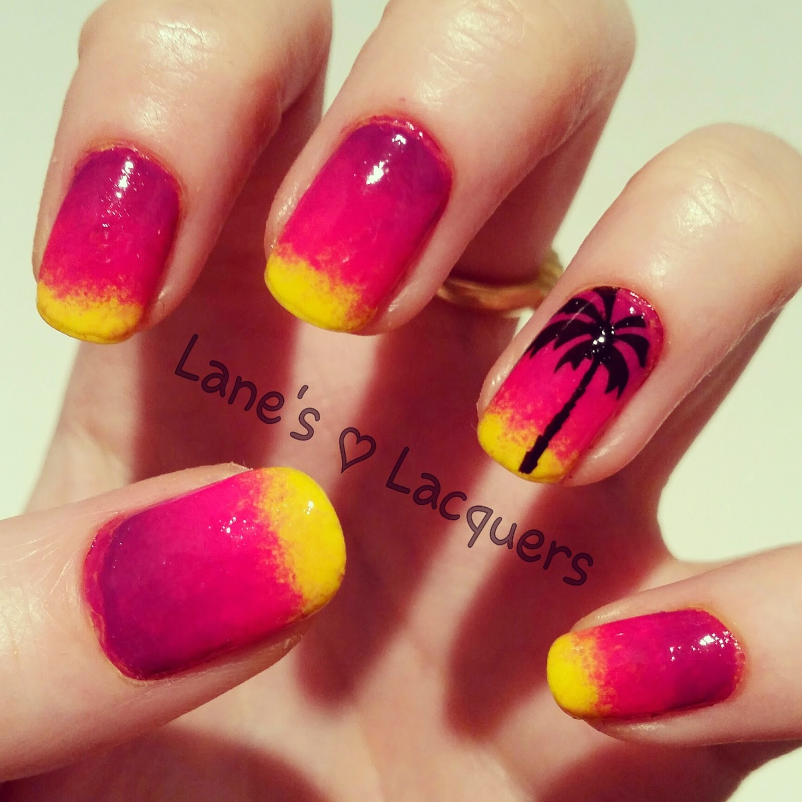 barry-m-beach-sunset-palm-tree-ombre-nail-art