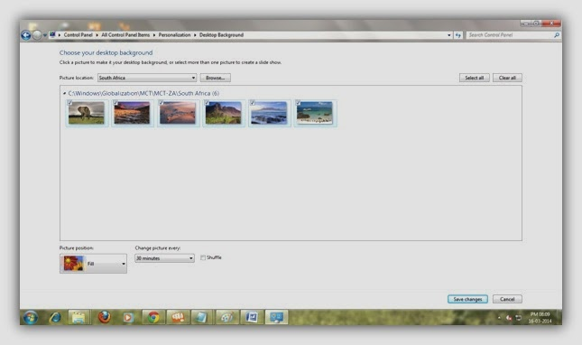 Access Hidden International Themes and Wallpapers in Windows 7