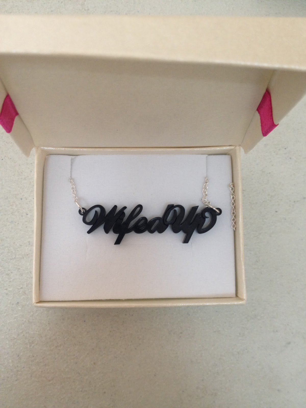 WifedUp Acrylic Name Necklace