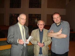 Maciej Grzybowski with Howard Myers and Prof. Walter Arlen