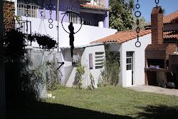 El jardín con su mini spa