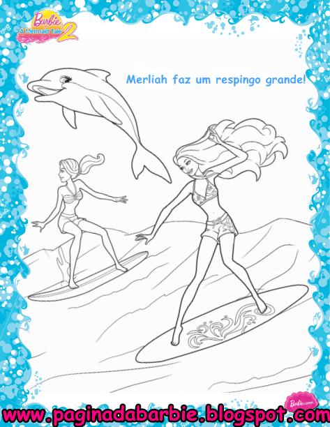 Barbie Vida de Sereia 2 no Click Jogos - imagens para colorir da barbie em vida de sereia 2