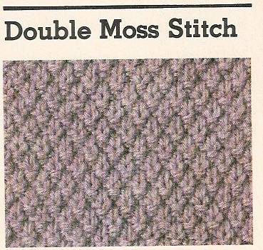 Knitting Double Moss Stitch Instructions : Nityas Knits Quoin : Double Moss Stitch