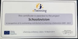 eTwinning Award 2013
