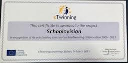 eTwinning Award 2013