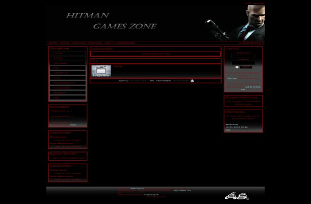 Black Red Hitman Game Phpfusion Theme Template