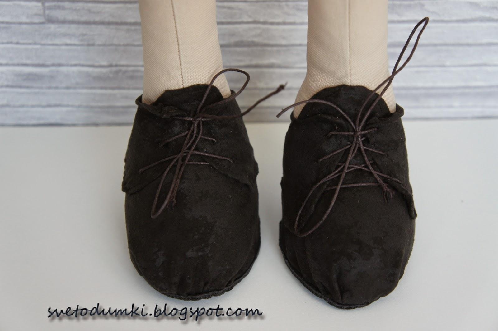 ботинки своими руками для текстильной игрушки