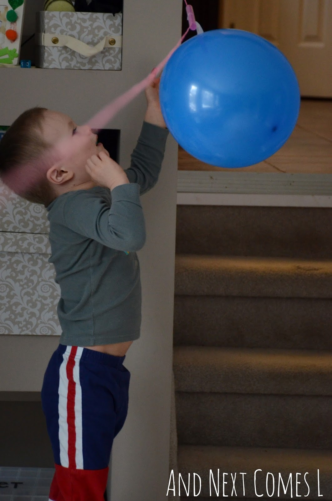 J and his balloon rocket from And Next Comes L