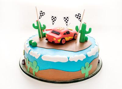 Strela Mcqueen - Lightning Mcqueen Cars cake