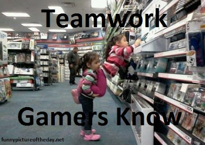 Teamwork Funny Video Gamer Girls Kids In Gamestop