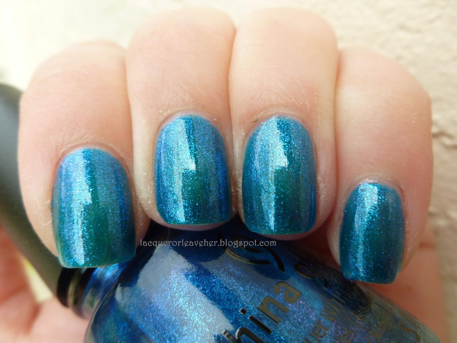 China Glaze Blue Iguana