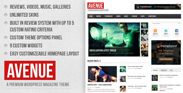 Avenue - Magazine WordPress Theme Free Download by ThemeForest.