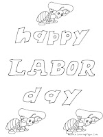 Coloring Sheets for Labor Day