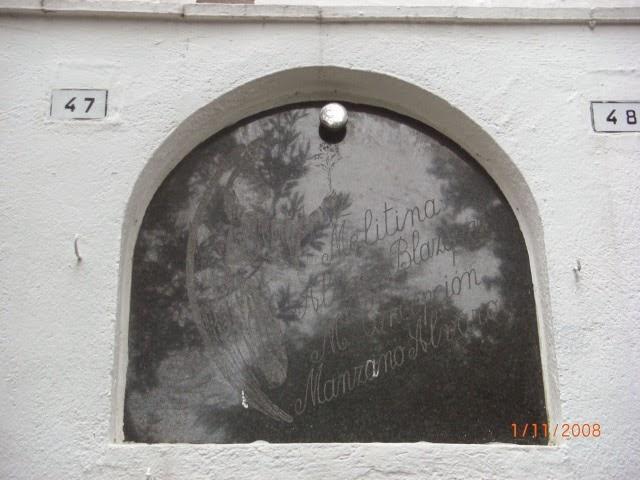 Melitina Álvaro Blázquez, Cementerio de Sant Pere de Ribes