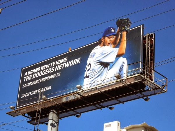 Dodgers Network Clayton Kershaw billboard