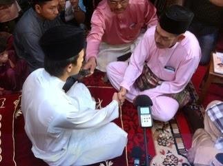Gambar Zahiril Adzim dan Shera Aiyob Majlis Akad Nikah