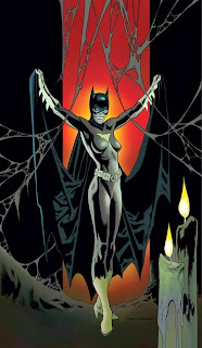 Batgirl #35 cover featuring Batgirl as vampire by Kevin Nowlan for DC Comics