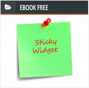 Cara mudah membuat sticky widget di sidebar blogger