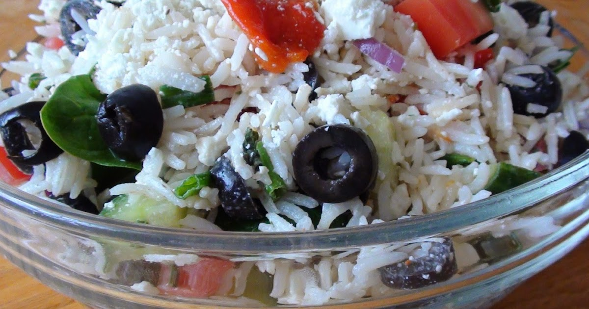 zsuzsa is in the kitchen: GREEK RICE AND FETA SALAD