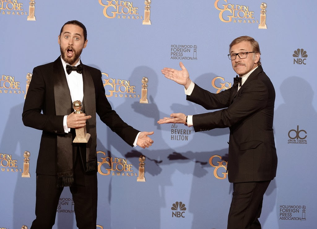 Celeb Diary: Jared Leto @ 2014 Golden Globe Awards