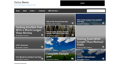 ExtraNews Blogger Template