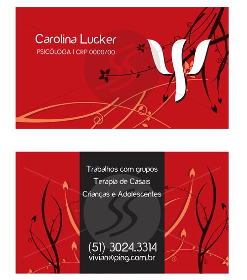 M176 graficas cartoes de visita - Cartões de Visita para Psicólogos
