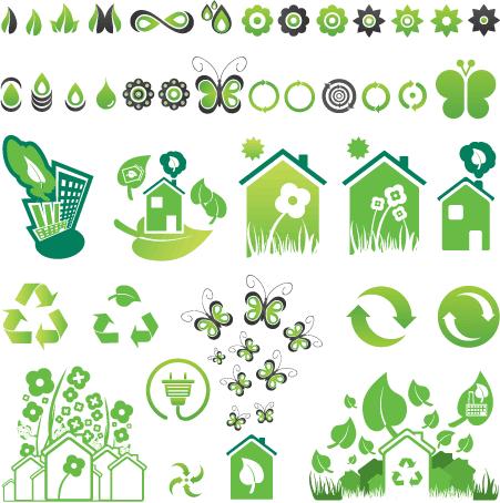 Iconos de Ecología - Vector