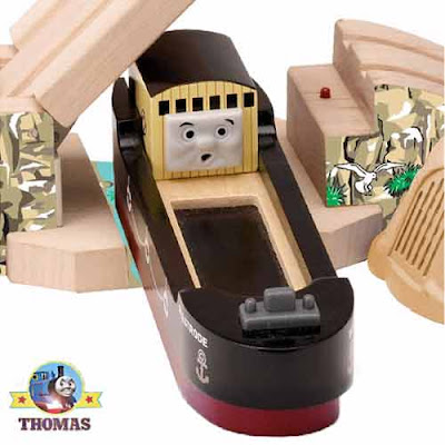 Thomas and friends wooden railway lighthouse lift bridge classic character Bulstrode the boat toy
