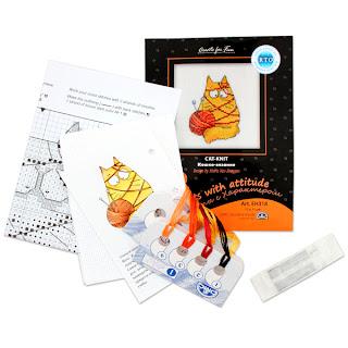 Оранжевый Кот набор для вышивания