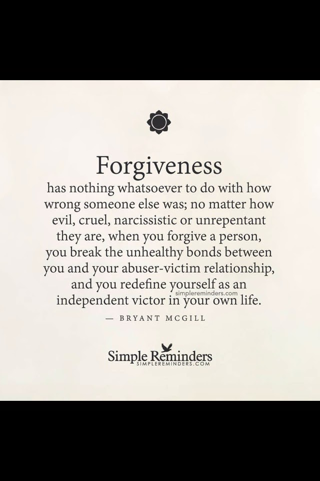 Forgiveness feels light.