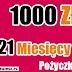 Szybkie pożyczki pozabankowe długoterminowe przez internet. Pożyczka TAKTO 1000 zł na 21 miesięcy.