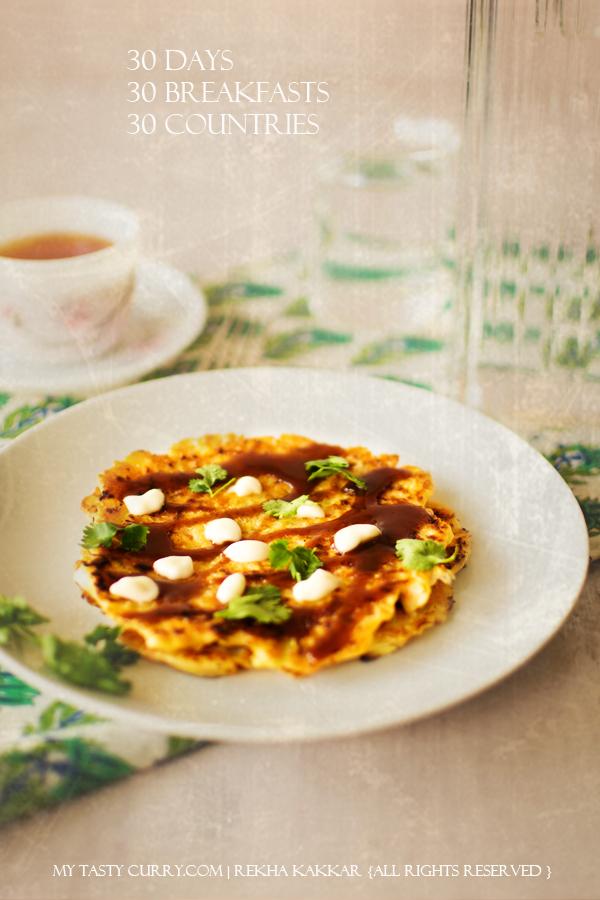 Okonomiyaki (Japanese Pancake) : Day 20 of 30 Days 30 Breakfast ...