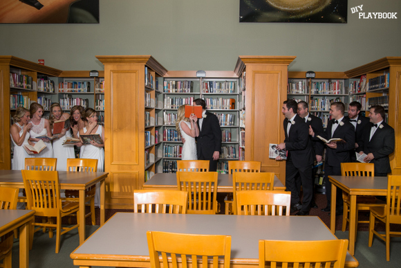 library wedding ideas