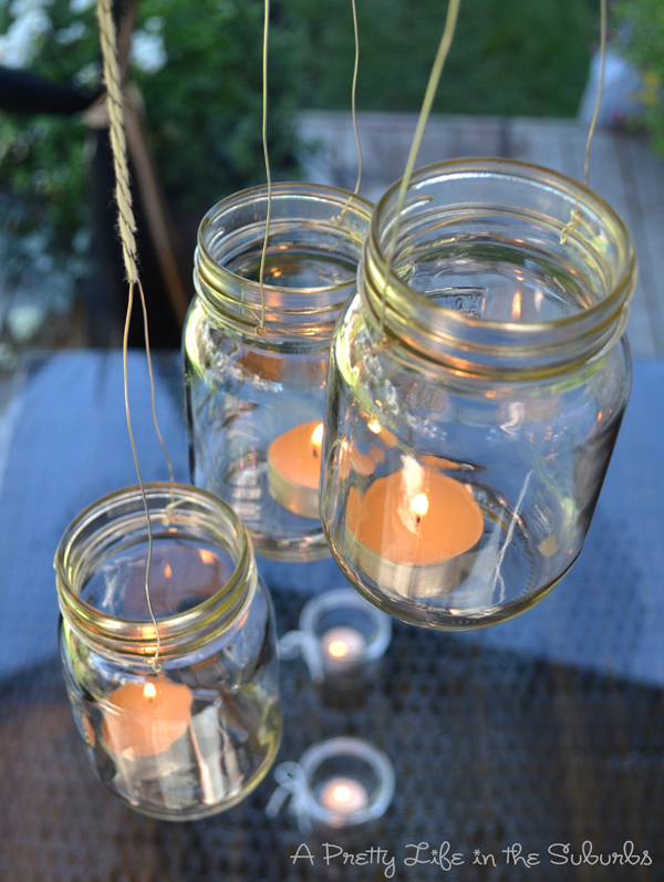 how to make lanterns out of mason jars