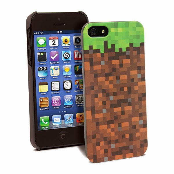 7. Minecraft Grassy Block iPhone Case
