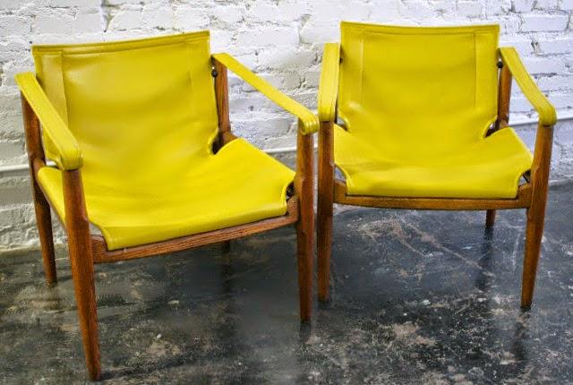 Safari Chairs By Douglas Heaslet For Brown Saltman