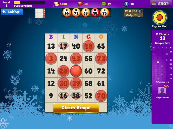 Bingo Seasons Free App Game By TiniDream Studios