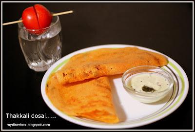 Thakali dosa,tomato dosa,dosa,thakali,tomato recipe,variety dosa
