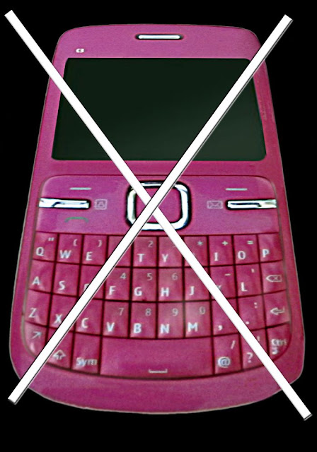 pink cell phone with large white cross