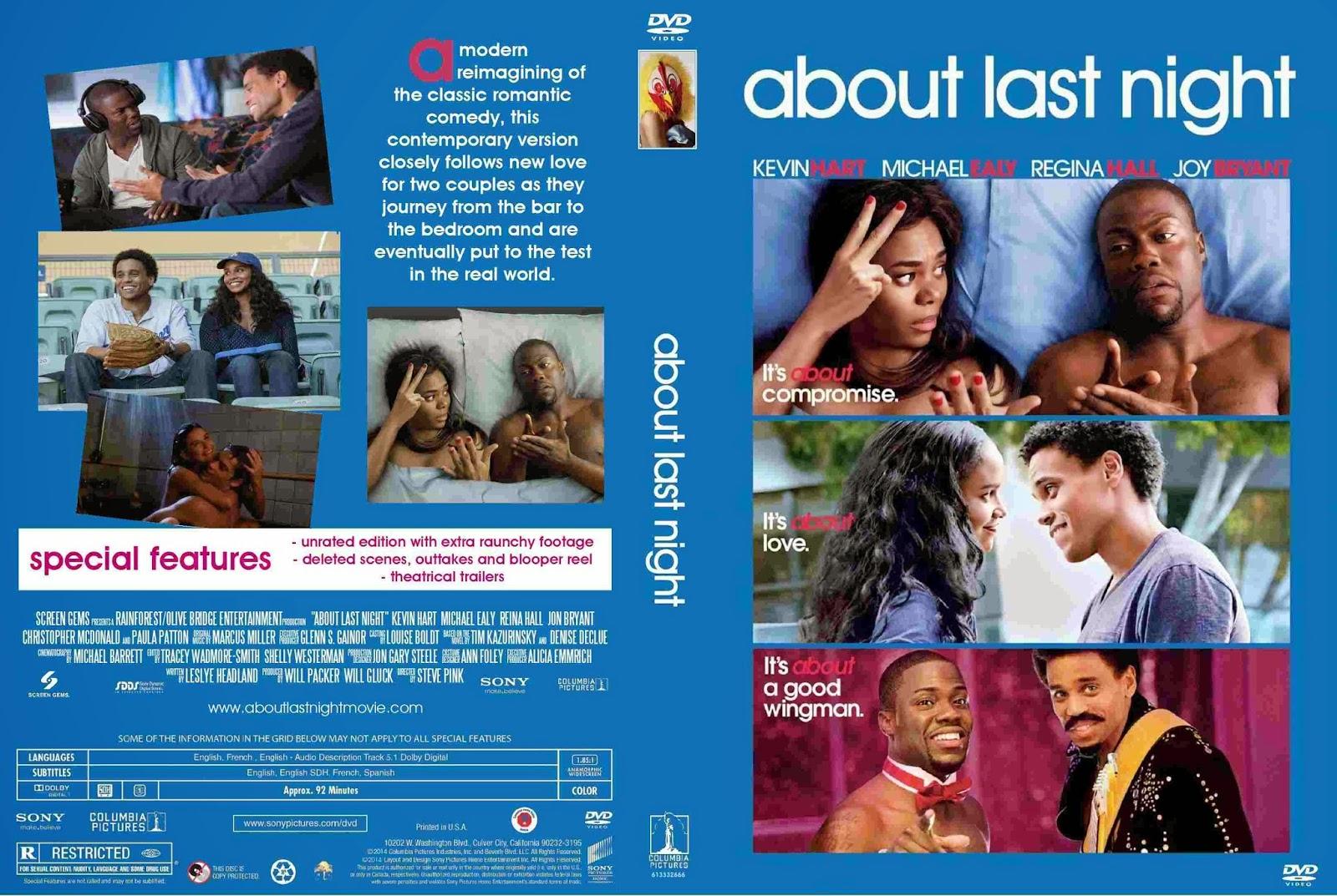 Download Sobre Ontem à Noite BDRip XviD Dual Áudio About Last Night  2014    Cover DVD Movie
